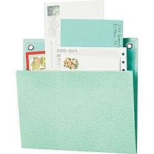Martha Stewart Home Office with Avery Small Shagreen Pocket, Blue, 8