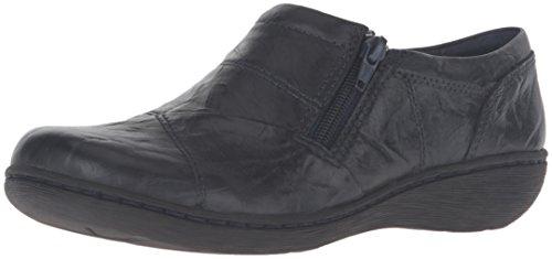 Clarks Women's Fianna Ellie Slip-On Loafer, Navy Leather, 8 M US