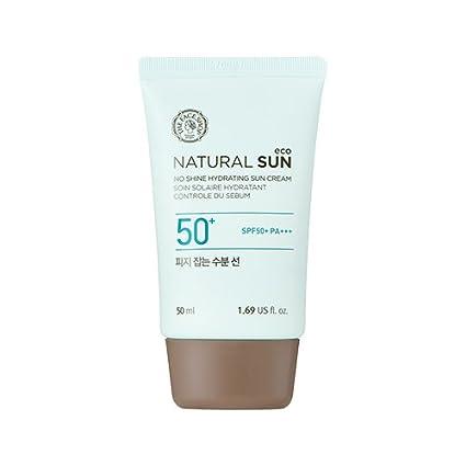Crema hidratante para el sol natural Eco sin brillo SPF50 + PA++ + ...