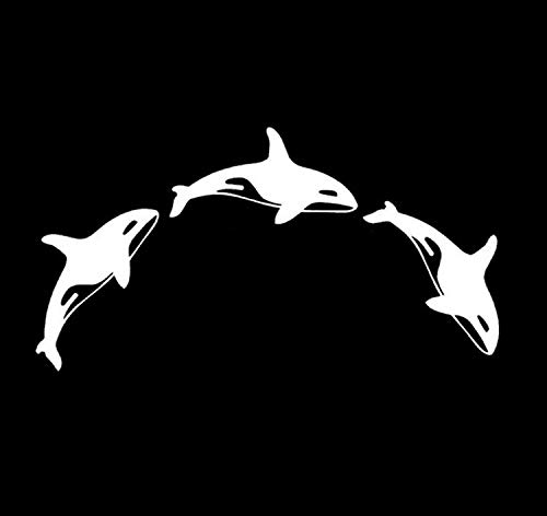 (JFIDSJ Car Sticker Reflective car Sticker Animal Cartoon ORCINUS ORCA Killer Whale (Color : White))