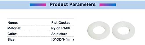 Size : 50pcs M5x10x1mm 100//50//20//10//5PCS Flat Ring Gasket White Nylon Insulation Plain Sealing Ring Gasket Spacer M2//3//4//5//8//10//12//20 Plastic Flat Gasket Ring Washer