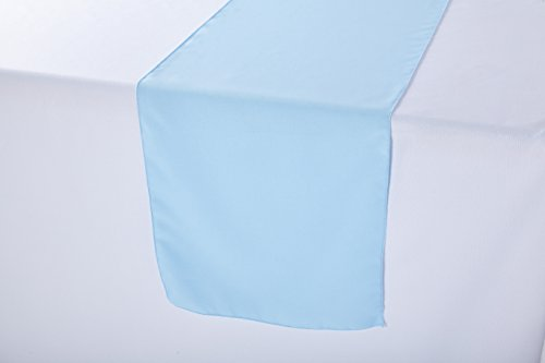 Polyester Wedding Table Runner 14 x 108 Inches (Baby Blue) -