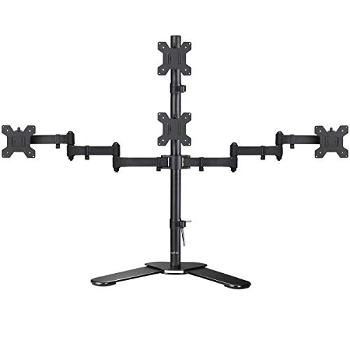 - Suptek Quad LED LCD Monitor Stand up Free-Standing Desk Stand Extra Tall 31.5