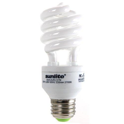 15w Warm White Cfl (Sunlite SM15/30K 15 Watt Mini Spiral Energy Saving CFL Light Bulb Medium Base Warm White)