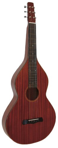 Lap Acoustic Guitar Steel (Gold Tone LM Weissenborn Style Hawaiian Steel Guitar (High Gloss Mahogany))