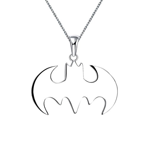 Clearance Necklace Summer Style Batman Silver Necklace Best Gift for Friends Steampunk Jewelry Laimeng_World (Silver)