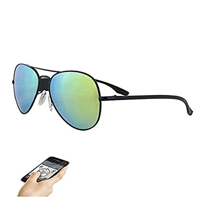 HUOFEIKE Bluetooth Sunglasses, Bluetooth Headset, Polarized Sports Driving Glasses, Wireless Music, Bluetooth Sports Sunglasses, iOS Android