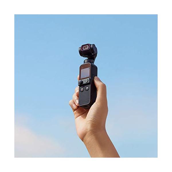 "DJI Pocket 2 Fotocamera Stabilizzata 3 Assi, Vlog, Video Ultra HD, Foto ad Alta Risoluzione da 64 MP, 1/1.7"" CMOS, Riduzione del Rumore, Timelapse, Slow Motion, Zoom 8x, Livestreaming 5 spesavip"