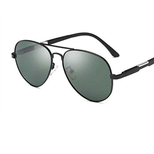 de Gafas Gafas Hombres de la Sol Color polarizada los de Providethebest Coolsir de de Manera Eyewear 3 de Sol luz Metal Boy Marco Doble piloto zwI8q1t