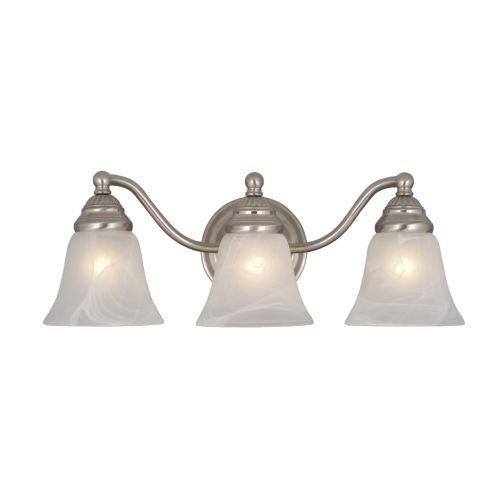 Price comparison product image Vaxcel VL35123BN Standford 3 Light Vanity Light,  Brushed Nickel Finish