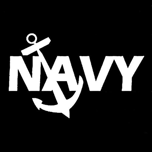 Hitada - 12.7CMx7.9CM US Navy Anchor Vinyl Decal Beret Special Forces Ranger Car Sticker Vinyl Car Stylings Black/Sliver