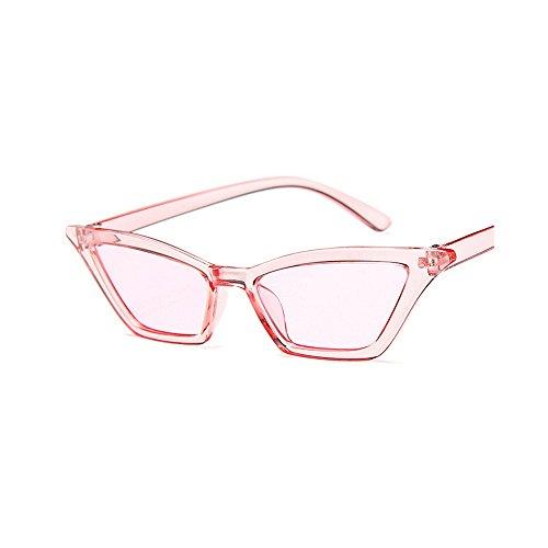 Style lunettes conduite protection de Rose yeux Lady's femmes soleil de UV unisexe Cat Colorful lunettes Personnalité lunettes lunettes pour de soleil élégant petites Cool de rétro soleil Clear Frame Lens rwfHnUqFxr