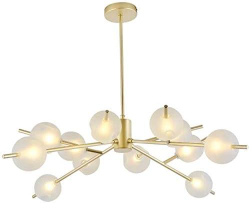 Sputnik Glass Chandelier, Creative Globe Gold Branches