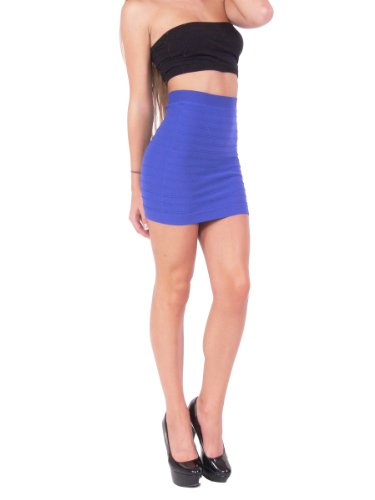 Bandage Style Mini Skirt Knit Stretch Fabric One Size