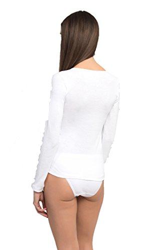 lunghe 4586 bianca maniche a Princess T shirt aCfn1q
