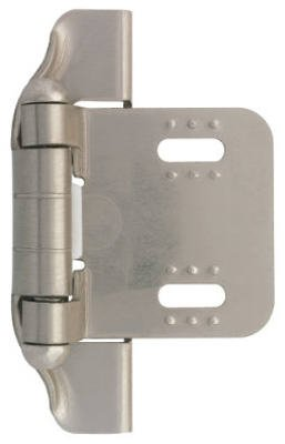 Brainerd Mfg Co/Liberty Hdw H01911L-SN-U 1/4-In. Satin Nickel Semi-Wrap Overlay Hinges, 2-Pk. - Quantity 5