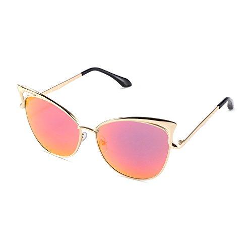 Pession Women's Fashion Flash Mirror Vintage Cat Eye - Glasses Cateye Cheap