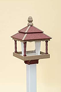 product image for DutchCrafters Square Bird Feeder (with Walls, Weatherwood/Cherry Wood/White)
