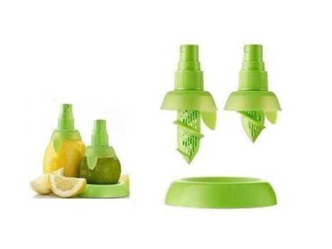 Exprimidor de limones, naranjas y limas y para todo tipo de cítricos con pulverizador Jooks: Amazon.es: Hogar