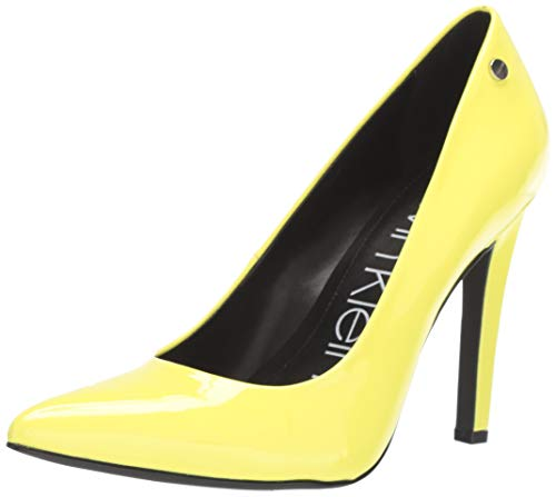 Calvin Klein Women's Brady Pump, Yellow Fluorescent Patent, 10 M M US