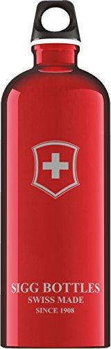 (Sigg Swiss Emblem Water Bottle (Red, 1.0-Litre))