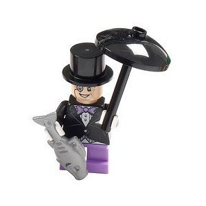 LEGO-Batman-Super-Heroes-Minifigure-Penguin-with-Umbrella-and-Fish
