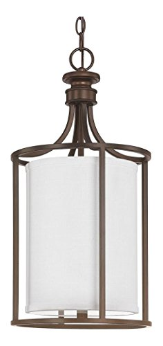 Burnished Bronze 2 Light 11in. Wide Pendant from The Midtown Collection