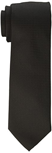 Calvin Klein Men's Hc Modern Gingham Tie, Black, X-Long