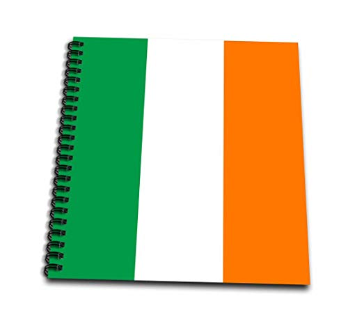 3dRose db_158340_1 Flag of Ireland Irish Green White Orange Vertical Stripes United Kingdom Up World Country Souvenir Drawing Book, 8