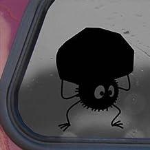 Totoro Black Sticker Decal Susa-ataris Studio Ghibli Wall Black Sticker Decal