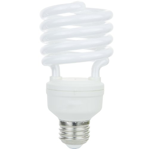 Sunlite SMS26/65K SMS26/65K 26-watt Super Mini Spiral Energy Saving Medium Base CFL Light Bulb, Daylight