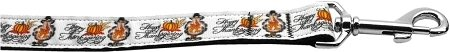 "Mirage Pet Products Happy Thanksgiving 1"" Wide Long Leash, 6'"