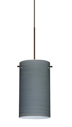 4404tn Led - Besa Lighting 1XT-4404TN-LED-BR 1X6W Led Lightsource Stilo 7 Pendant with Titan Glass, Bronze Finish