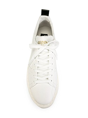 GOLDEN GOOSE HOMME GCOMS631A1 BLANC CUIR BASKETS