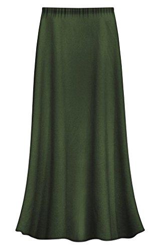 Sanctuarie Designs Olive Green Slinky Plus Size Supersize Skirt 4x