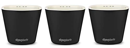 """Self Watering Mini 3.5"""" Planters (3 PK Black Matte) Grow a Windowsill Garden. Perfect for Potting Small House Plants, Herbs, African Violets, Succulents, Flowers or Start Seedlings. (Black Matte)"""