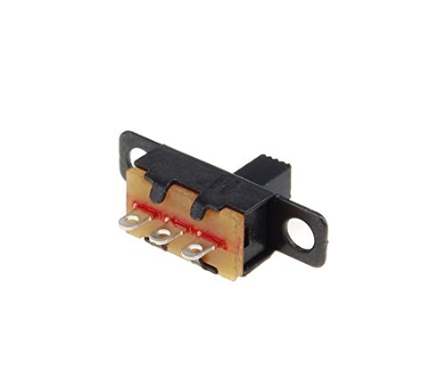 Waymeduo 5V 0.3 A Mini Size Black SPDT Slide Switch for Small DIY Power Electronic Projects