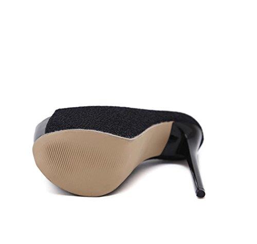 Heels Premium 7 4U® Frauen Schuhe CM Best Pumps High Hochzeit 16 Sommer Sandalen Plateauschuhe Peep PU CM Toe AqP7HIp7