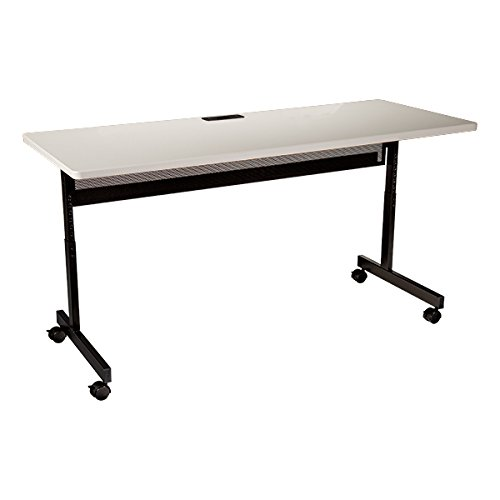 Learniture Adjustable-Height Computer Desk with Electric and USB, 72 W x 24 D, Gray, LNT-TSU1069R-PK-SO-GR