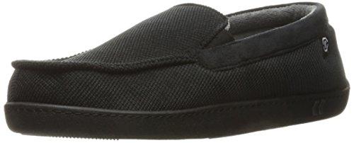 isotoner-mens-diamond-corduroy-moccasin-slippers-black-x-large-11-12-m-us