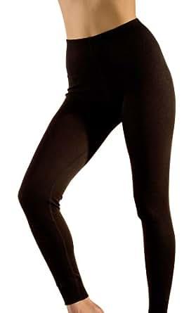 Hocosa Women's Long-Underwear Pants, Organic Wool-Silk, Black, s. 36/US 6