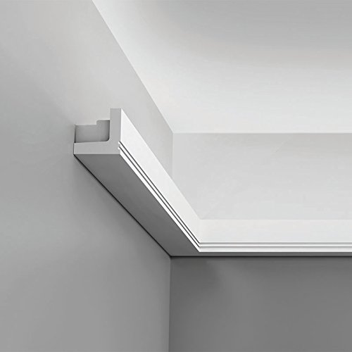 "Orac Decor Cornice Moulding for Indirect Lighting C361 Crown Primed Polyurethane Face: 2-3/4"" L: 78-3/4"" H: 2"" Proj: 2"""