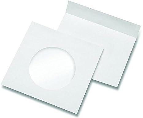 50 Fundas de papel para CD DVD BD/con ventana/Tamaño: 145 x 190 mm ...