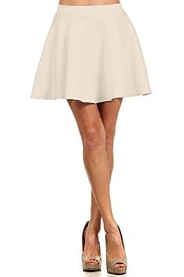 Women's Basic Stretchy Flared Skater Skirt