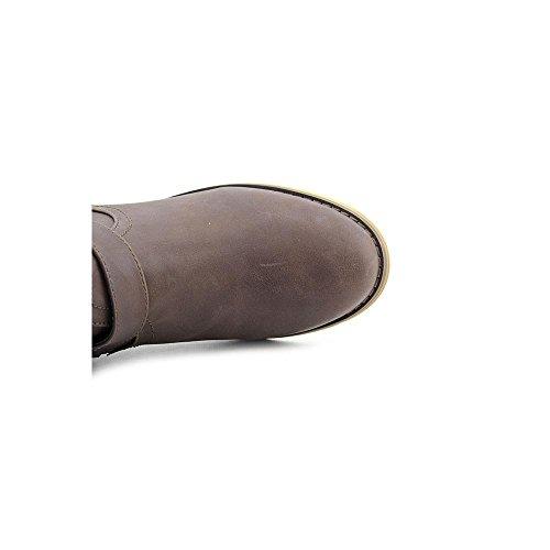 Ytterlighet Av Eddie Marc Kvinna Margo Diagonal Dragkedja Tall Boot Brown