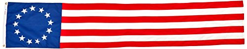 Valley Forge Flag Colonial 13-Star Poly Cotton 20-Inch by 8-Foot Pull Down