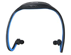 Sports MP3 Player Headset with FM and Card Slot (Blue)