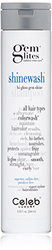 Celeb Luxury Gem Lites Shinewash Hair Shampoo: Hydrating Cleanse + Condition, Fashion Color Care Hydrating Sulfate-Free High Gloss Shine Shampoo, Cruelty-Free, 100% Vegan