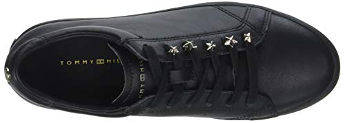 Sneakers Star Dress Low Hilfiger Black Black Jewel 990 Top Women's Tommy w0nqIExaa