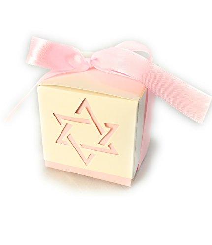 Bar Mitzvah Star - Pack of 10- Star Of David Paper Box (Light Pink)